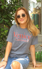 Load image into Gallery viewer, Venice California Tee in Dark Gray and Red