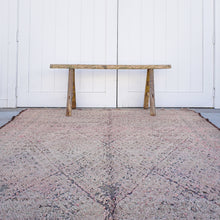 Load image into Gallery viewer, vintage hand knotted wool rug.  6 feet by 10 feet