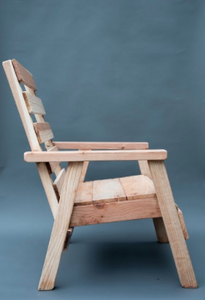 Redwood Straight Back Patio Chair