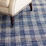 Denim Plaid Woven Cotten Rug