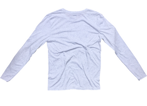 Venice CA Long Sleeve T-Shirt in Light Gray