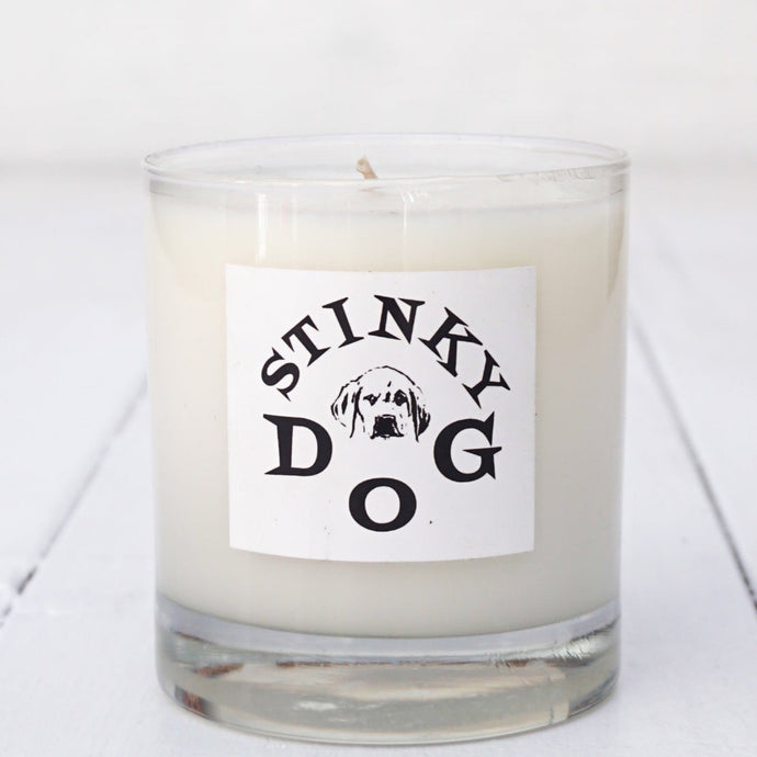 Stinky Dog Glass Candle