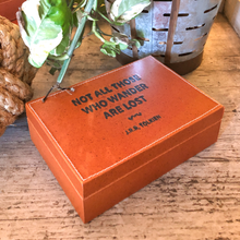 Load image into Gallery viewer, Leather Bound Quote Box