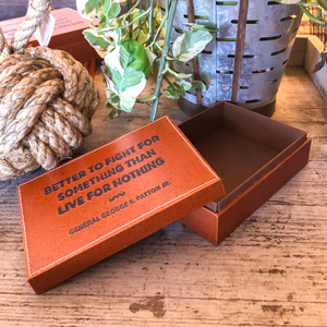 Leather Bound Quote Box
