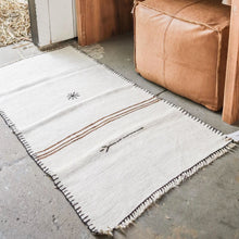 Load image into Gallery viewer, Hemp Kilim Rug Star and Stripes