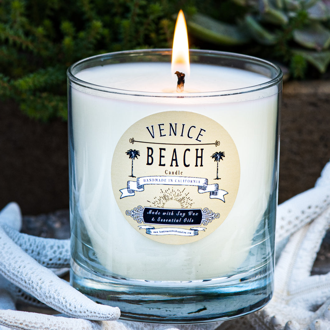 venice beach scented soy candle handmade in california