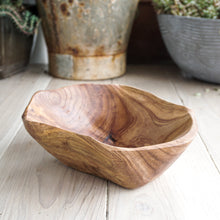 Load image into Gallery viewer, unique carved wood salad bowls