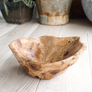 unique carved wood salad bowls