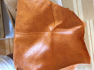 Leather cube/ caramel
