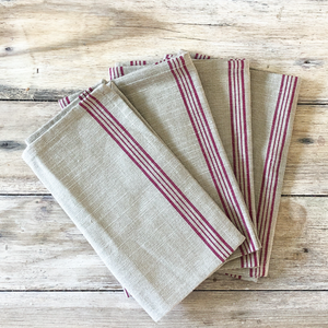 Cotton Napkin Red Stripe