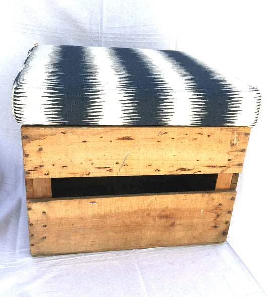 Upholstered Milk Crate