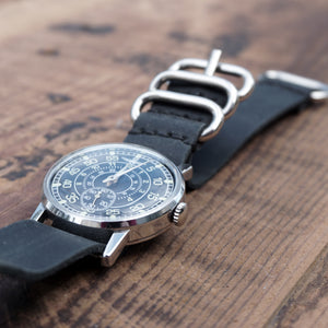Commander's Vintage Leather Watch