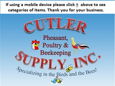 Poultry, Gamebird and Beekeeping Service and Supplies - Cutler Supply
