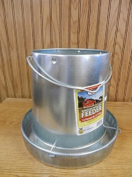 12 Pound Galvanized Metal Hanging Feeder