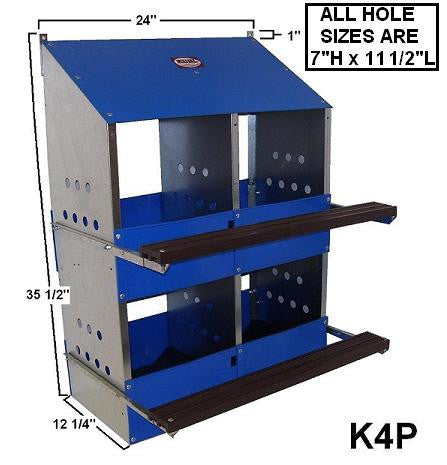 LN4 Kuhl 4 Hole Laying Nest Box