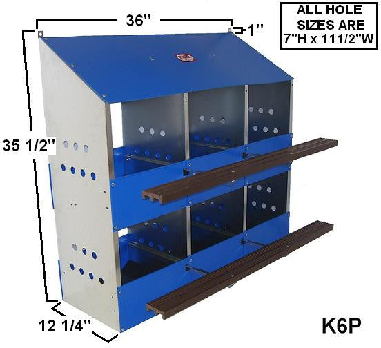 LN6 Kuhl 6 Hole Laying Nest Box