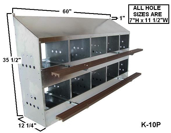LN10 Kuhl 10 Hole Laying Nest Box