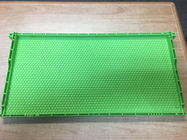BZDP Drone Comb Frame and Foundation (Green Wax Coated) Deep