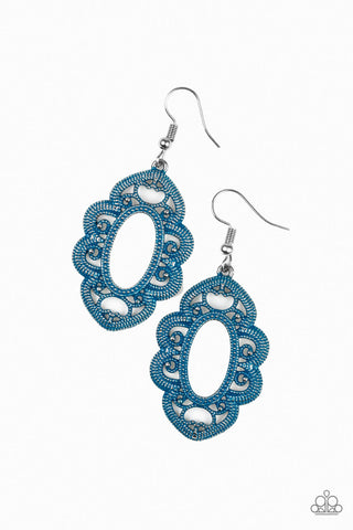 Mantras and Mandalas - Blue Earrings - Amy Rey