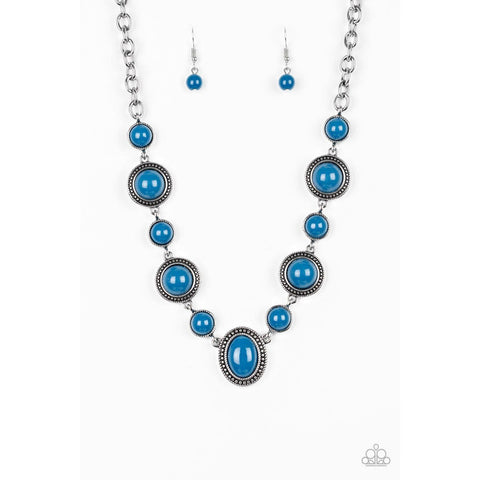 Voyager Vibes – Blue Necklace Paparazzi Jewelry Accessories