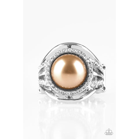 Pampered In Pearls – Brown Ring