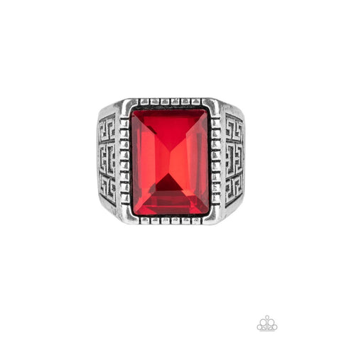 Winning Attitude - Red Unisex Mens Women Urban Ring