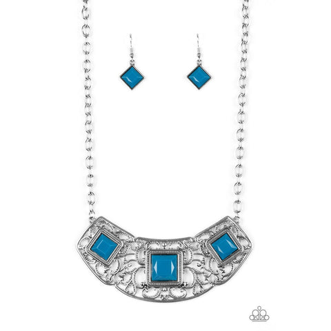 Feeling Inde-PENDANT - Blue Necklace