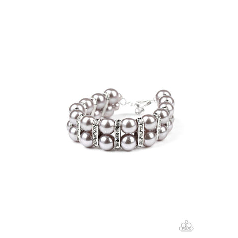 Glowing Glam – Silver Bracelet Paparazzi Jewelry Accessories