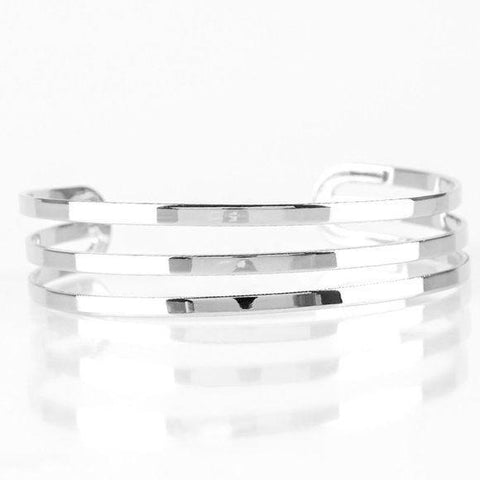 Street Sleek – Silver Wrap Urban Bracelet Jewelry