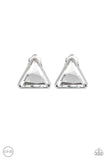 Timeless In Triangles - White Earrings Clip On Earrings - Amy Rey
