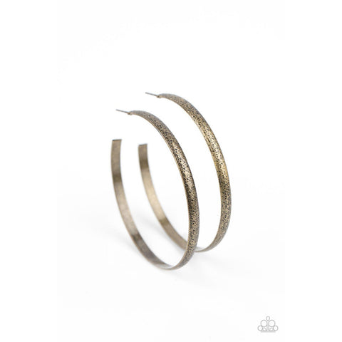 Rustic Radius - Brass Earrings