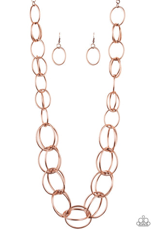 Elegantly Ensnared - Copper Necklace