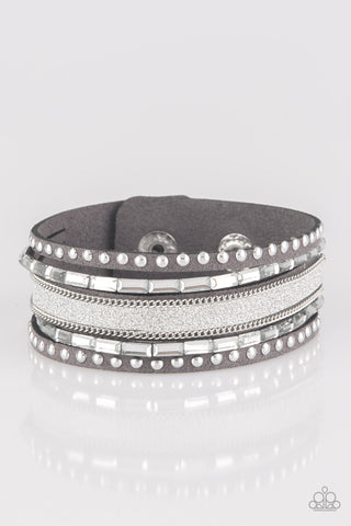 Seize The Sass - Silver Wrap Bracelet
