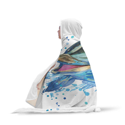 THE HAPPY DOLPHIN HOODED BLANKET