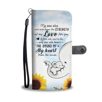 STRENGTH OF MY LOVE! PERSONALIZED BABY PHONE WALLET
