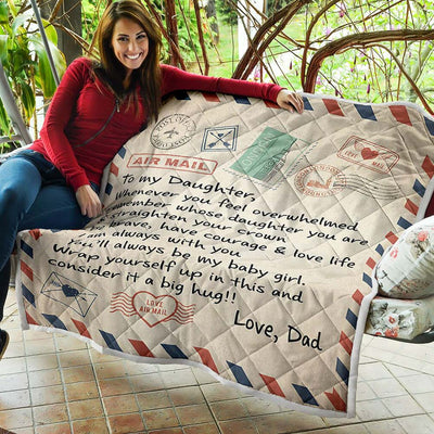 Mom, Dad to Daughter Letter Quilt [BLACK FRIDAY SALES]