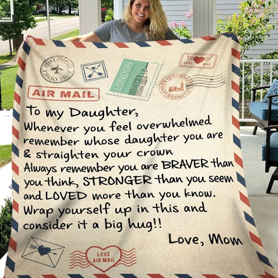 MOM- DAUGHTER LETTER BLANKET
