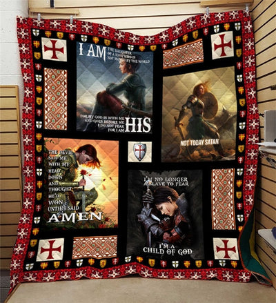 [HOLIDAY CLOSE-OUT DEALS] WOMAN OF FAITH! 3D FULL PRINT QUILT BLANKET
