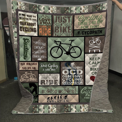 Cycling Quilt  Blanket - Limited Edition