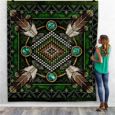 The Classic Native Pattern - 3D Quilt Blanket