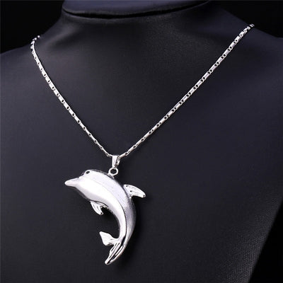 Dolphin Statement Necklace