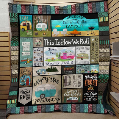 CAMPING QUILT BLANKET - LIMITED EDITION
