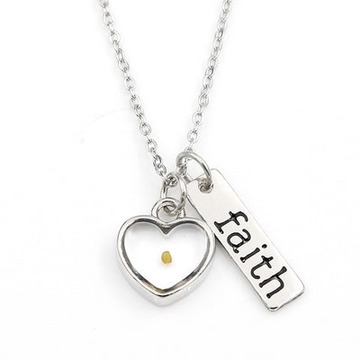 Real Mustard Seed Faith Necklace
