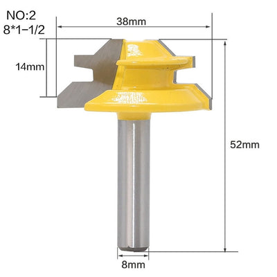 RosyBits - 45 Degree 8inch Shank Lock Router Bit