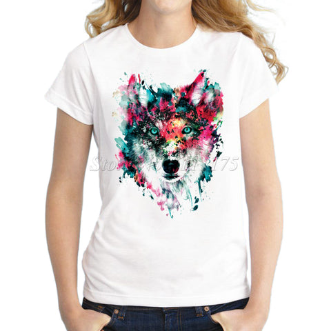 Women Novelty Wolf Tee