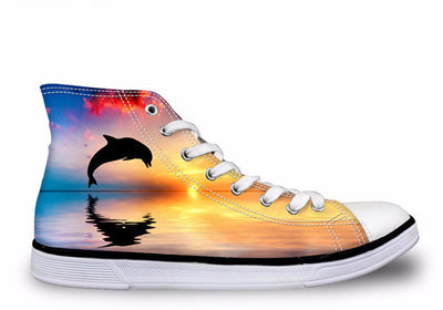 Dolphin Women Lace-up Canvas