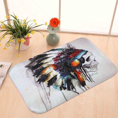 "Native American Feather Mat 23.6"" X 15.6"""