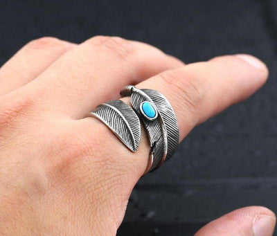 316L Stainless Steel feather ring