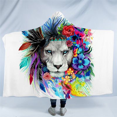 Pixie Lion Hooded Blanket