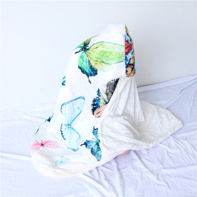 Butterfly Hooded Blanket
